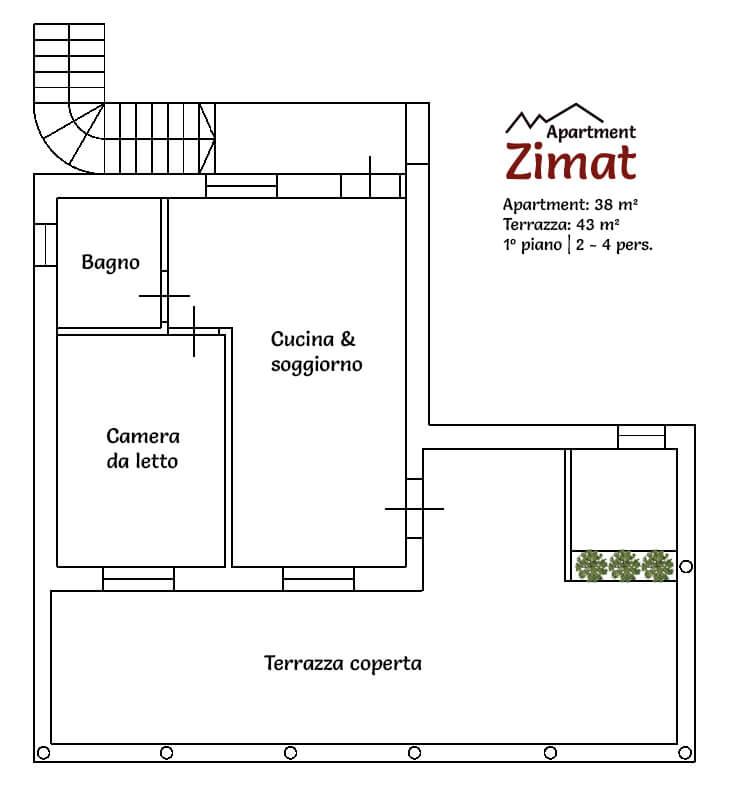 Apartment Zimat - Appartamento nuovo al Plan de Corones